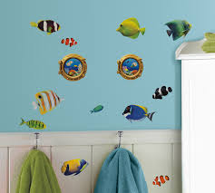 roommates fish wall decals with lenticular port hole peel stick roommates fish wall decals with lenticular port hole peel stick wall decals home home decor wall decor tapestries appliques