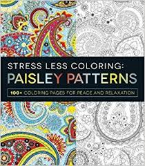 stress coloring paisley patterns 100 coloring pages