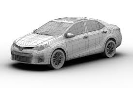 corolla 3d model 2014 toyota corolla cgtrader
