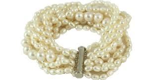 white pearl bracelet images Multi strand freshwater pearl bracelet dog house pearls png