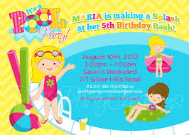 pool party invitations girl pool party invitation you print