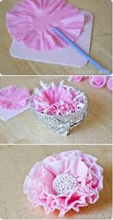Easy Icing Flowers - how to make an easy ruffle flower tutorial sugarcraft u0026 cake