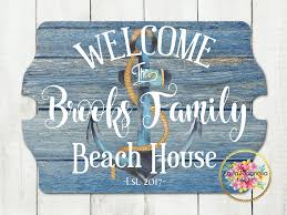 beach signs home decor custom house sign personalized beach house sign lake