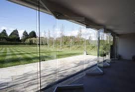 Frameless Patio Doors Nearly Frameless Sliding Folding Doors To Garden Entertainment