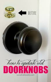 How To Spray Paint Doors - livelovediy how to update old brass doorknobs with spray paint
