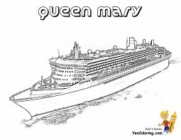 cruise ship qeen mary coloring pages book kids boys gekimoe