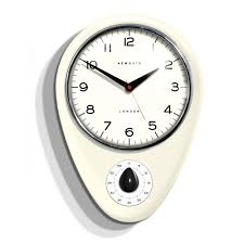 retro silver wall clock by infinity instruments kitchen wall