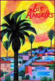 Los Angeles Map Poster by Los Angeles Travel Poster