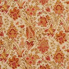 Tapestry Upholstery Fabric Discount Tuscany Beige And Burgundy Ornate Large Flower Pattern Tapestry