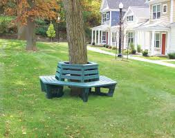 recycled plastic lumber tree surround bench series et u0026t distributors