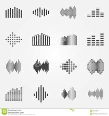 music soundwave or equalizer icons set stock vector image 46294990