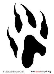 25 wolf paw tattoos ideas wolf print tattoo
