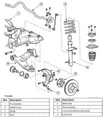 ford focus suspension diagram 2001 ford focus suspension parts exploded view flickr