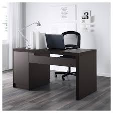 Black Desk Office Malm Desk Black Brown Ikea