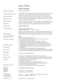Nursing Student Resume Template Word Resume Template Nursing A Superb Example Of How To Write A Nurse