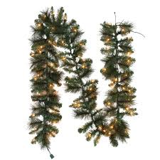 decorating pre lit garland lowes garland home depot wreath