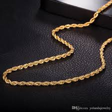 2015 men s jewelry 8mm 60cm new arrival new design 3mm 24inches 60cm men s necklace chain 18k yellow gold