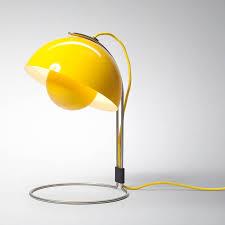 panton flowerpot table lamp vp4 yellow table lamp stardust