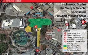 Disney Hollywood Studios Map Best Nighttime Show And Fireworks Viewing Spots At Disney World