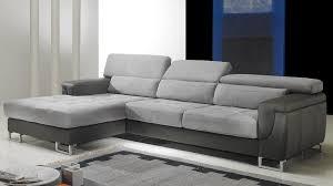 canapé d angle gauche cuir microfibre gris pas cher canapé angle