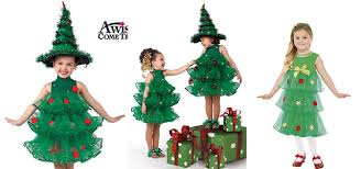 10 Homemade Christmas Tree Costume Ideas For Girls  Kids 2014