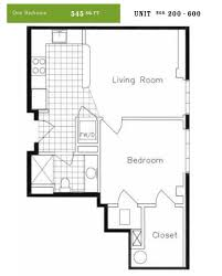 one bedroom units