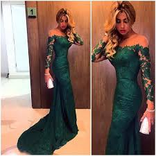 2016 our real picture emerald jewel mermaid lace evening
