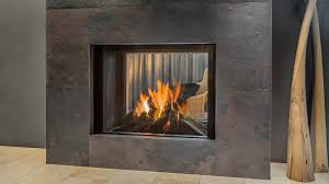 gas fireplace contemporary closed hearth double sided luna