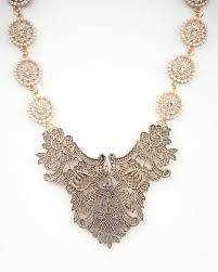 necklace with vintage images Palace necklace vintage gold tone bridal necklace ivy and grace jpg
