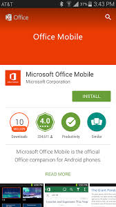 android office the office 365 mobile app for android phones library