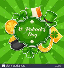 poster st patrick day gold coins boot stock vector art