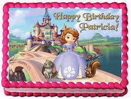 sofia the cake topper sofia the 1 4 sheet edible photo birthday cake topper