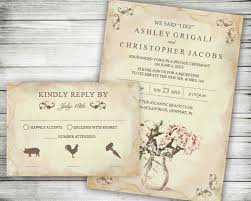 reception only invitations elopement wedding reception only invites we said i do