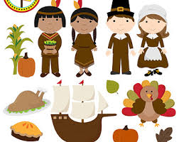 Indian Thanksgiving Instant Download Turkey Clipart Or Thanksgiving Clipart For
