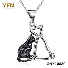 dog necklace silver images 925 sterling silver cat and dog necklace smartbuyerz buy best jpg