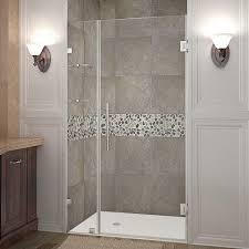 40 Shower Door Aston Nautis Gs 40 In X 72 In Frameless Hinged Shower Door In