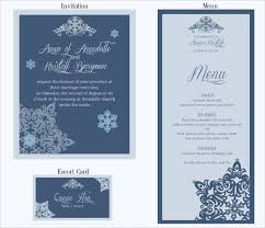 29 wedding menu template free sle exle format