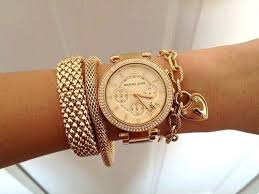 bracelet gold watches images Rose gold watch and bracelet 2014 2015 by eve for women jpg
