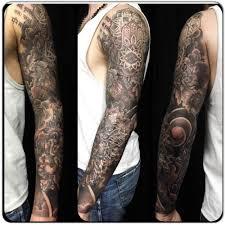 best spiritual element full sleeve tattoo by greg