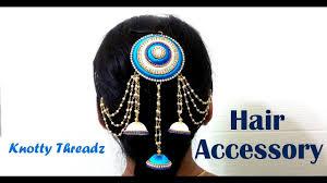 how to make a silk thread hair accessory at home tutorial