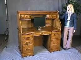 Small Roll Top Computer Desk Amish Computer Roll Top Desk In Ideas 14 Savitatruth