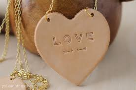 heart leather necklace images Leather conversation hearts a valentine 39 s day diy gift idea jpg