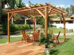 Pergola Decorating Ideas by Backyard Idea Featured Cute Square Pergola Design Plus Hanging