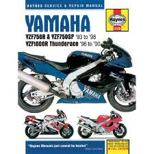 haynes repair manual yamaha yfz750r sp yzf1000r thunderace