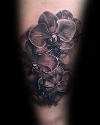 inner forearm shaded orchid tattoo designs for guys tattoo