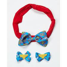 cool hair bows baby harley quinn hair bow set dc comics spencer s