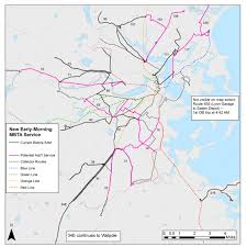 Red Line Mbta Map by Mbta To Increase Early Morning Bus Service On 10 Routes Wbur News