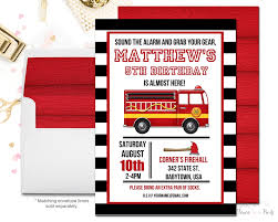 fire truck invitations forever your prints party printables u2013 personalized printable