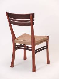 hand crafted danish cord mahogany desk chair by dogwood design