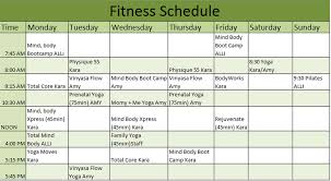 personal schedule templates